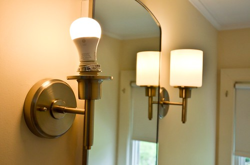 14. Test that new wall sconce works!