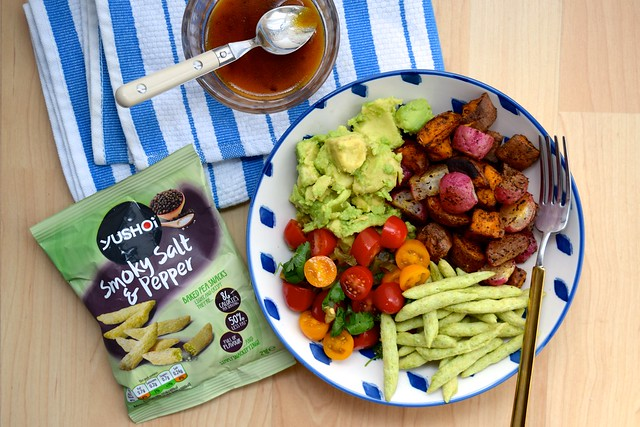 Vegan Mexican Roasted Sweet Potato Radish Tomato Bowl Www Rachelphipps Com