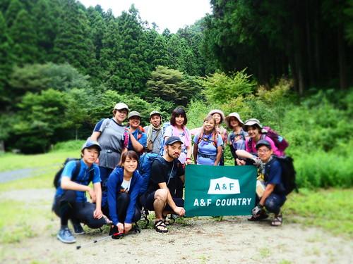 A&Fカントリー関東野外イベント「真夏のシャワートレッキング!北高尾で沢歩き」