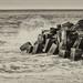 IMG_2151 Haumoana surf on groyne silver Efex by roseyposey2009