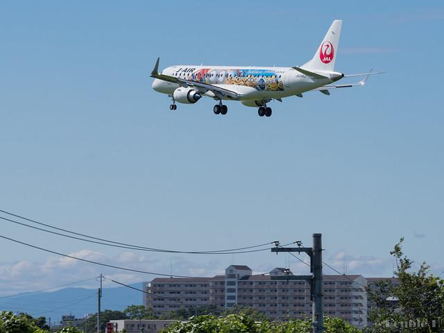 Itami Airport 2017.8.3 (5) JA248J / JAL Minion Jet / J-AIR's ERJ-190