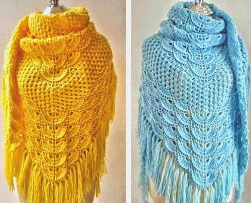 💋💞💞👌 How beautiful is this crochet shawl, I'm delighted with this very delicate pattern, see step by step