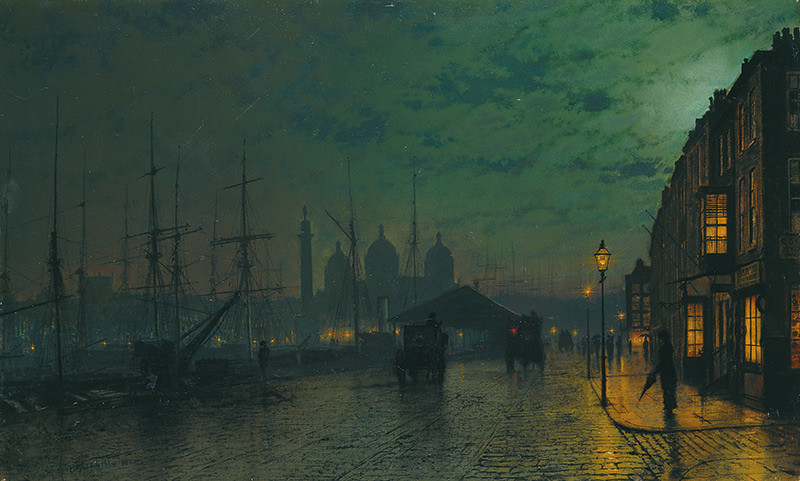 John Atkinson Grimshaw, 'Princes Dock, Hull' (1887). © Ferens Art Gallery