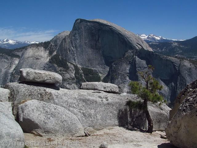 Half Dome from North Dome in Yosemite National Park, California