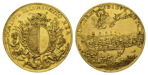 1746 Lucerne Merit Medal in Gold