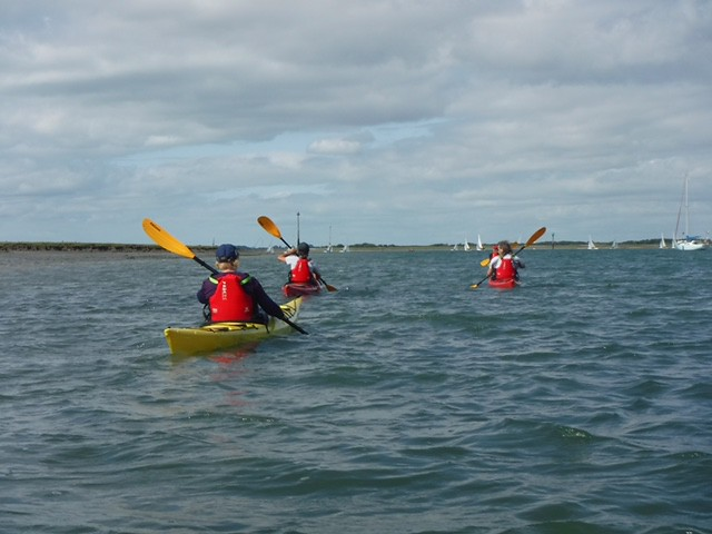 Sea kayaking, cycling, and walking weekend in Chichester, August 2017