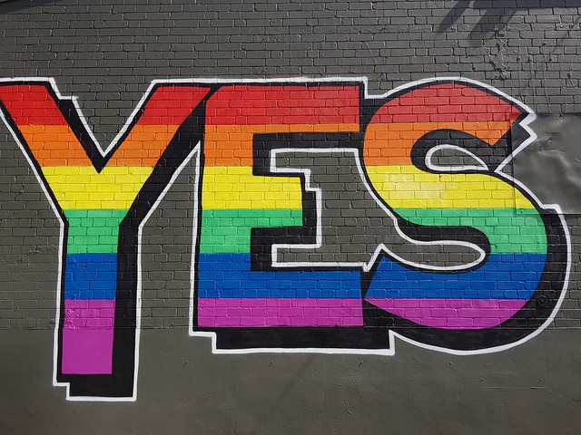 Vote Yes Marriage Equality Street Art Sydney - Samsung Galaxy Note 8 photo example