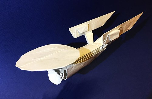 NCC-1701-A USS.Enterprise origami High grade version