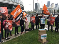 Uber petition delivery to TfL @ City Hall, London