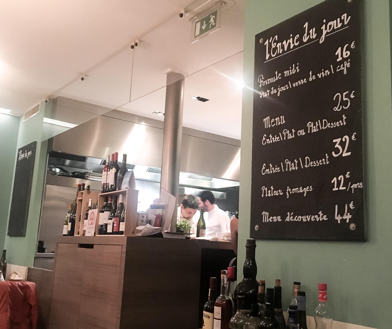 Ravintolasuositus Pariisi l'envie du jour ravintola