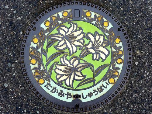 Takamiya Hiroshima, manhole cover (広島県高宮町のマンホール)