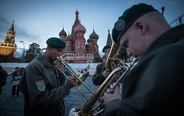 Militärmusik NÖ spielt in Moskau