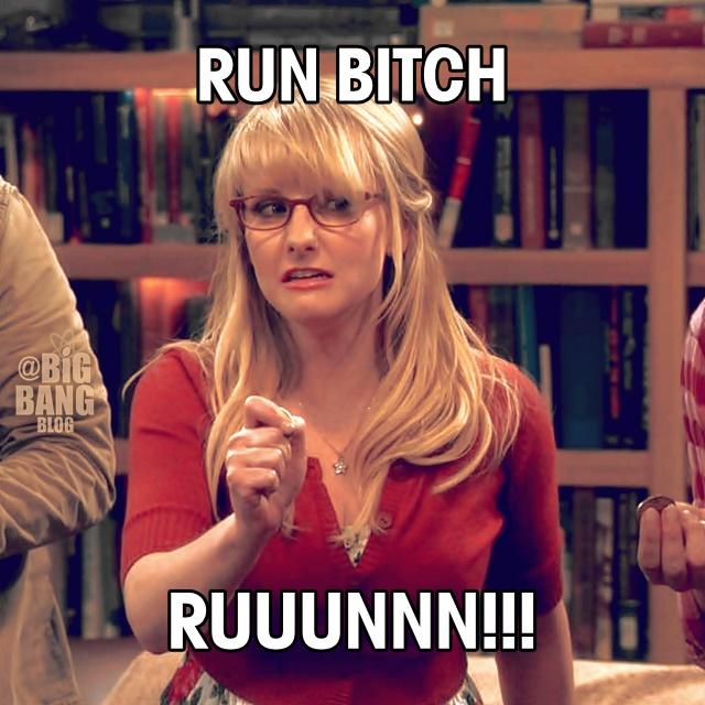 7x03 Bernadette Run bitch run