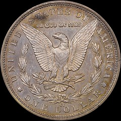 1889-CC Morgan Dollar with joined halves reverse