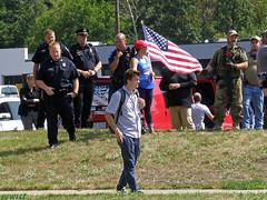 Kentwood PD Meets West Michigan Trumpflake & 3 Percent Militia