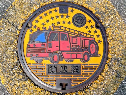 Tsubata Ishikawa, manhole cover 6 (石川県津幡町のマンホール6)