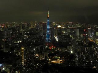 六本木ヒルズから(ジブリ展)01 青い東京タワー