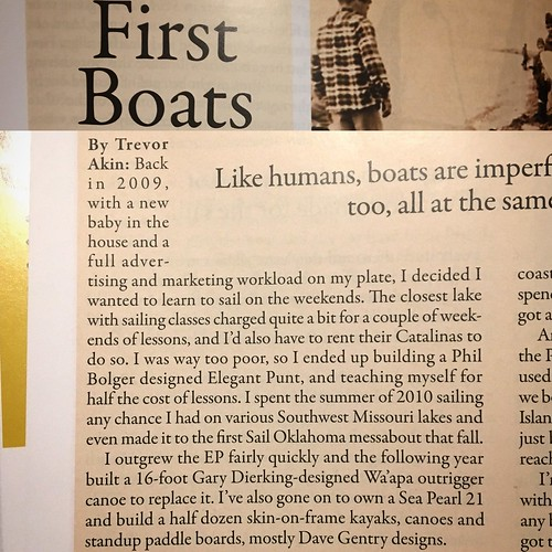Printed submission in Sep/Oct 2017 Small Craft Advisor magazine. :)