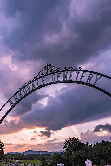 Arbovale Cemetery Sunset 2