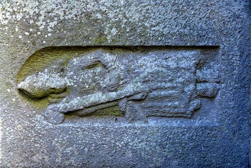 Effigial tomb slab