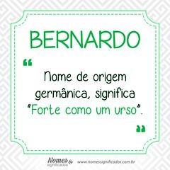 Significado do nome Bernardo