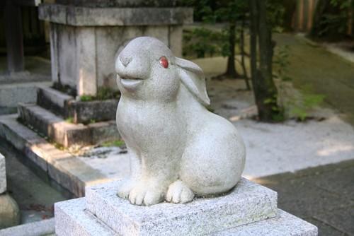 京都岡崎神社のうさぎ