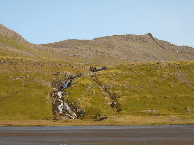 Waterfall and Stream in Hornstrandir