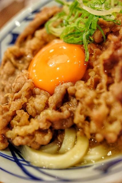 丸亀製麺 牛すき釜玉 牛すき月見 15