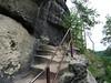 Jetřichovické stěny, stoupání na Mariinu vyhlídku, foto: Petr Nejedlý