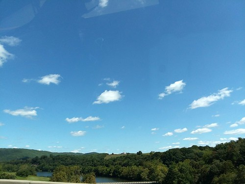 austinville va virginia wythecounty sky bluesky outdoors outside clouds greenery landscape scenery scenic tree trees foliage nature natural countryside samsung galaxy smj727v roadside guardrail i77 interstate77 water newriver river