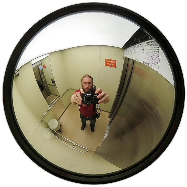 Selfie in a elevator