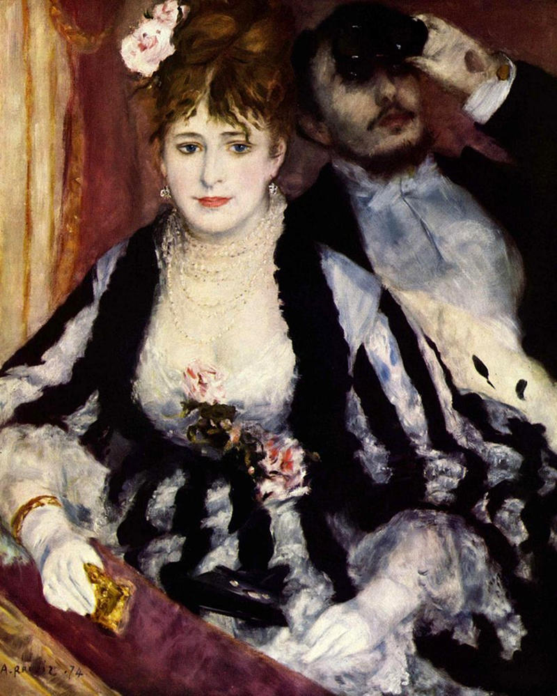 The Theater Box by Pierre-Auguste Renoir, 1874