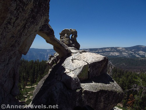 See? There's another arch just to the right of Indian Rock! Yosemite National Park, California