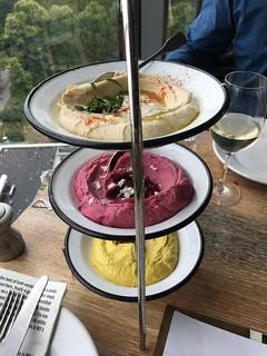 Hummus Trio Platter - NENI Berlin