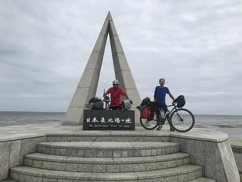 日本最北端宗谷岬に到達。