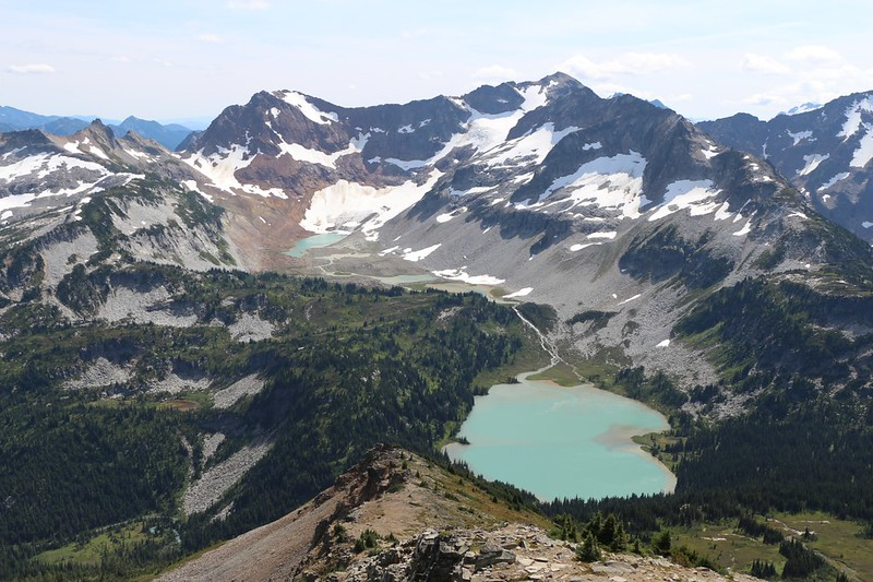 Spider Gap, Phelps Ridge, Chiwawa Mountain, and the Lyman Lakes from the summit of Cloudy Peak