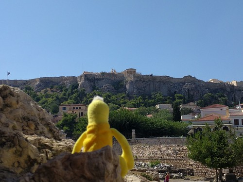 Swami viewing the Acropolis - Athens, Greece