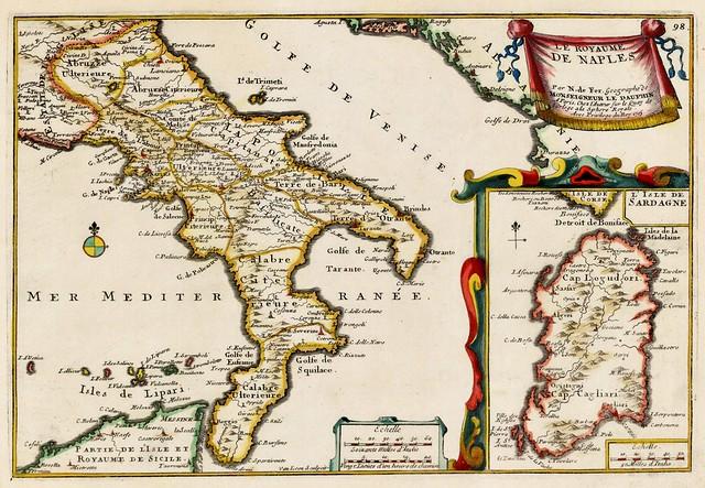 Nicolas De Fer - Les Royaume De Naples (1705)