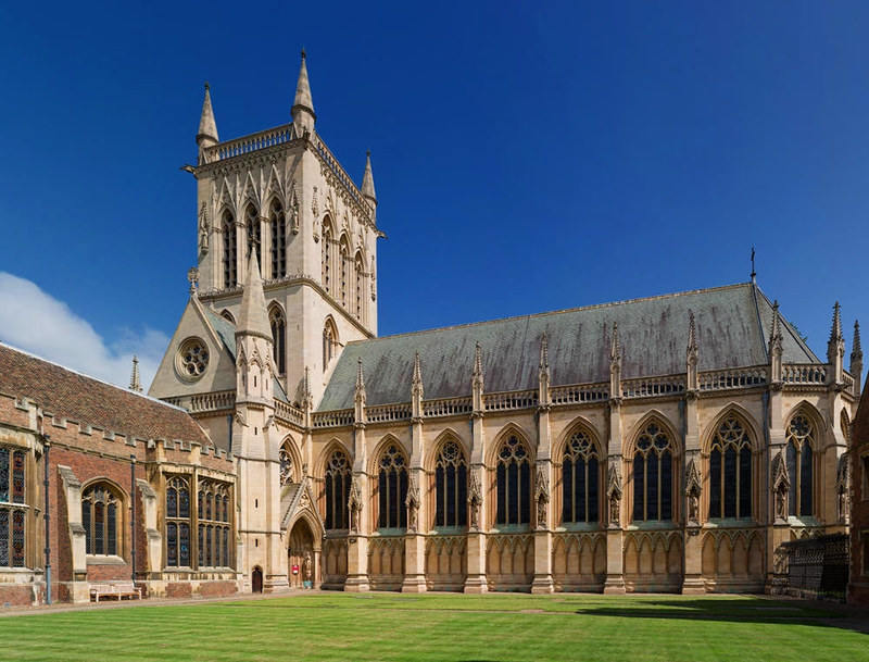 The Chapel of St John's College from across First Court in Cambridge, England. Credit David Iliff