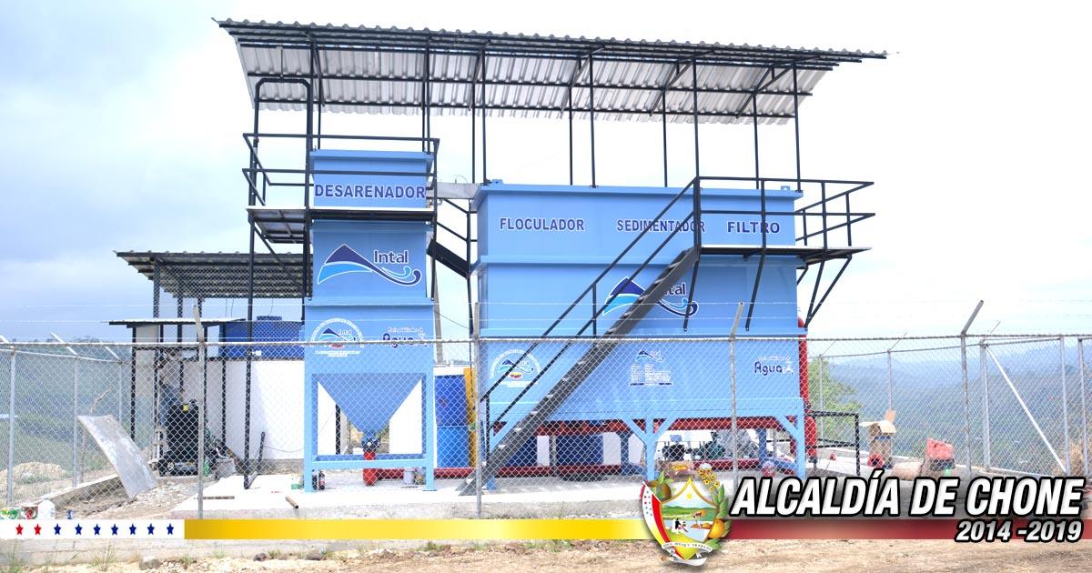 La Alcaldía de Chone inaugurará en Chibunga planta de Agua Potable