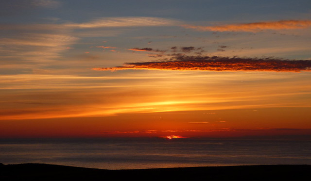 Lundy sunset over the, Panasonic DMC-FZ72
