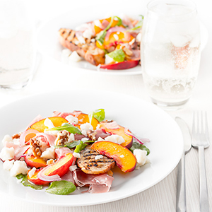 pickled peach salad ham cheese