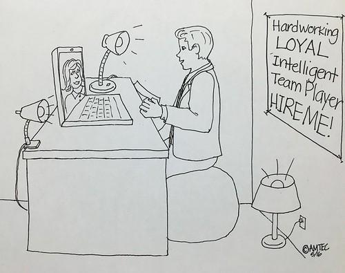 Illustration - Skype Job Interview