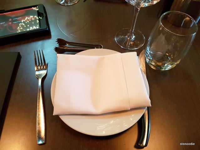 Touro Brazilian Steakhouse table set up