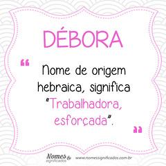 Significado do nome Débora
