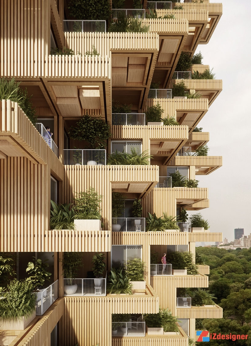 Toà tháp mang thiên nhiên vào giữa lòng thành phố