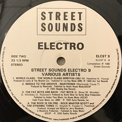 V.A.:STREETSOUNDS ELECTRO 9(LABEL SIDE-B)