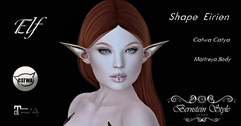 .:BS:. Shape Eirien Elf - Catwa Catya Bento - Maitreya Body - SecondLifeHub.com