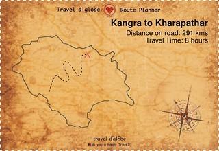 Map from Kangra to Kharapathar