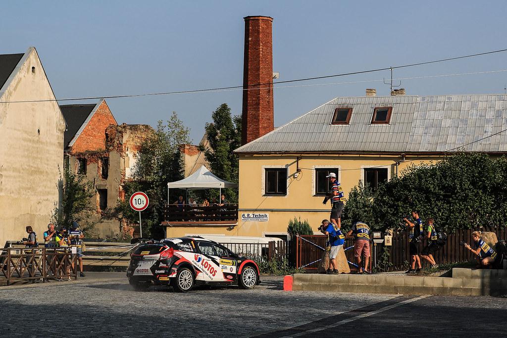 01 KAJETANOWICZ Kajetan (POL) BARAN Jarosław (POL) Ford Fiesta R5 action during the 2017 European Rally Championship ERC Barum rally,  from August 25 to 27, at Zlin, Czech Republic - Photo Jorge Cunha / DPPI